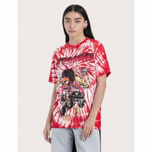 READYMADE Tシャツ 赤 レッド 【 RED READYMADE THE WEEKND X TIEDYE TSHIRT 】 レディースファッション トップス Tシャツ カットソー