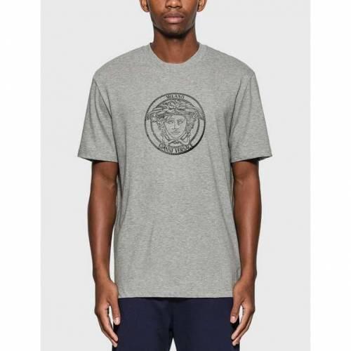 VERSACE Tシャツ 灰色 グレー グレイ 【 GRAY VERSACE MEDUSA TSHIRT 】 メンズファッション トップス Tシャツ カットソー