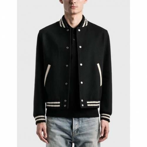 <title>ファッションブランド カジュアル ファッション ジャケット 2020A/W新作送料無料 パーカー ベスト サンローラン SAINT LAURENT 黒色 ブラック TEDDY JACKET IN WOOL BLACK メンズファッション コート</title>