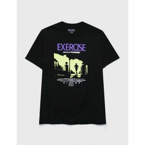 プレジャーズ PLEASURES Tシャツ 黒色 ブラック 【 PLEASURES EXERCISE TSHIRT BLACK 】 メンズファッション トップス Tシャツ カットソー:スニケス