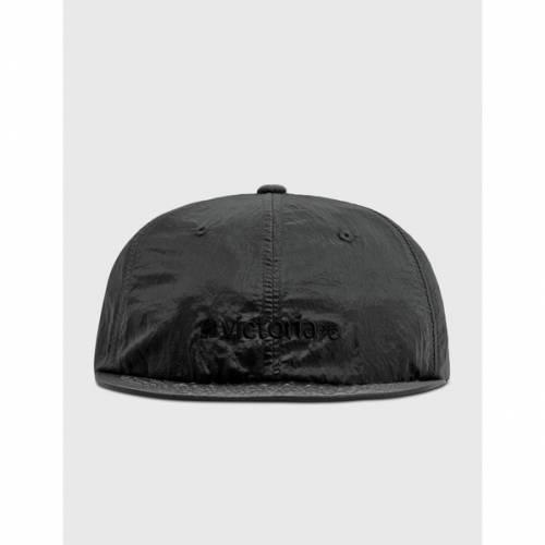 ファッションブランド お値打ち価格で カジュアル ファッション キャップ ハット ナイロン ロゴ 帽子 黒色 NYLON BLACK ブラック METALLIC サービス メンズ CAP LOGO VICTORIA