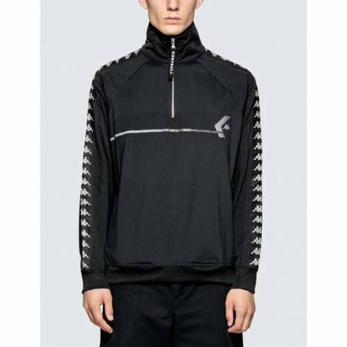 KAPPA KONTROLL ハーフ 黒 ブラック 【 BLACK KAPPA KONTROLL HALF ZIP JACKET 】 メンズファッション コート ジャケット