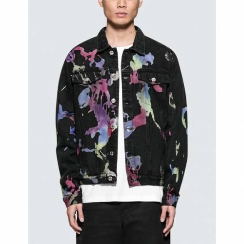 GEO デニム 【 GEO MULTILAYERED DENIM JACKET MULTICOLOR 】 メンズファッション コート ジャケット