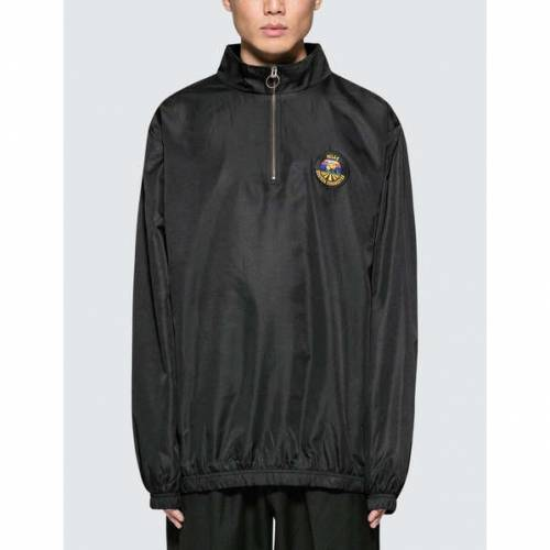 H・・LAS 黒 ブラック H・・LAS 【 BLACK SOURCE QUARTER ZIP JACKET 】 メンズファッション コート ジャケット
