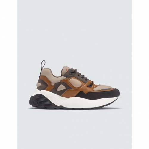 STELLA MCCARTNEY 茶 ブラウン 黒 ブラック スニーカー 【 BROWN BLACK STELLA MCCARTNEY LOW TOP ECLYPSE SNEAKERS BEIGE 】 メンズ スニーカー