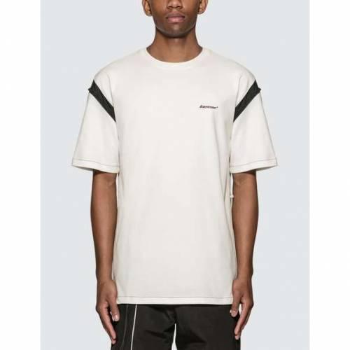 【スーパーセール中! 6/11深夜2時迄】ADER ERROR Tシャツ メンズファッション トップス カットソー メンズ 【 Drawcord Arm T-shirt 】 White/black