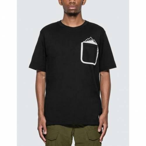 【スーパーセール中! 6/11深夜2時迄】WHITE MOUNTAINEERING Tシャツ メンズファッション トップス カットソー メンズ 【 Mountain Printed Pocket T-shirt 】 Black