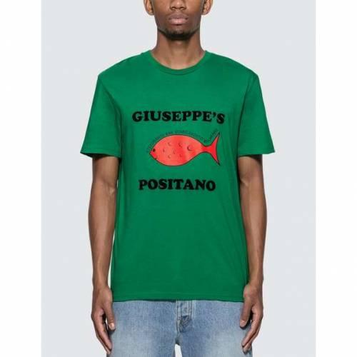 HARMONY Tシャツ 緑 グリーン 【 GREEN HARMONY GUISEPPE POSITANO TSHIRT VARSITY 】 メンズファッション トップス Tシャツ カットソー