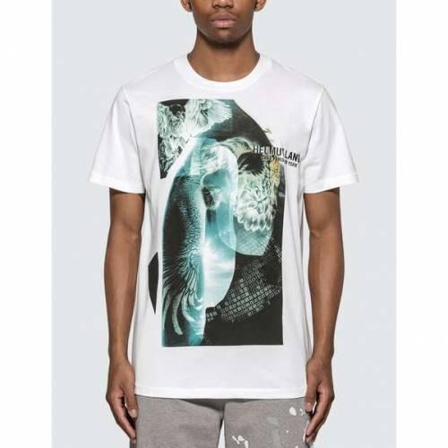 HELMUT LANG スタンダード Tシャツ 白 ホワイト 【 STANDARD WHITE HELMUT LANG EAGLE BOY TSHIRT CHALK 】 メンズファッション トップス Tシャツ カットソー