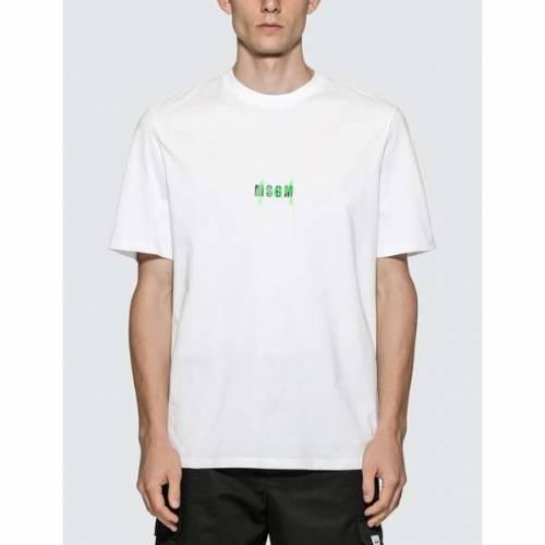 MSGM ミクロ ロゴ Tシャツ メンズファッション トップス カットソー メンズ 【 Micro Spray Logo T-shirt 】 White
