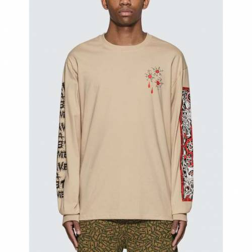 HAVE A GOOD TIME タイム ブレット スリーブ Tシャツ 【 SLEEVE HAVE A GOOD TIME BULLET HOLE LONG TSHIRT MILITARY BEIGE 】 メンズファッション トップス Tシャツ カットソー