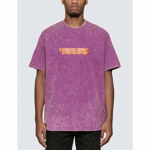 THISISNEVERTHAT Tシャツ 紫 パープル 【 PURPLE THISISNEVERTHAT ACID WASHED TSHIRT 】 メンズファッション トップス Tシャツ カットソー