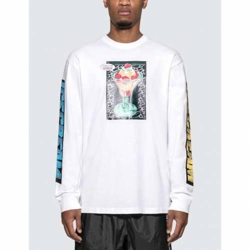 ICECREAM ジャージ 白 ホワイト 【 WHITE ICECREAM STRAWBERRY JERSEY 】 メンズファッション トップス Tシャツ カットソー