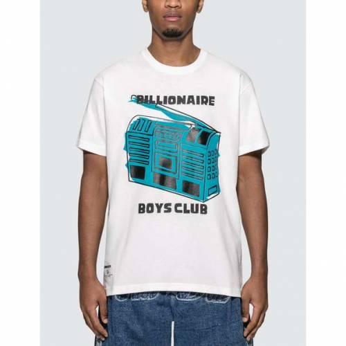 ビリオネアボーイズクラブ BILLIONAIRE BOYS CLUB クラブ Tシャツ 白 ホワイト 青 ブルー 【 WHITE BLUE BILLIONAIRE BOYS CLUB RADIO TSHIRT 】 メンズファッション トップス Tシャツ カットソー