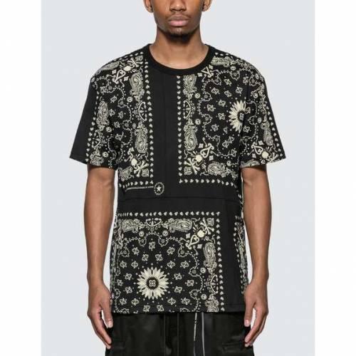 MASTERMIND WORLD Tシャツ 黒 ブラック 【 BLACK MASTERMIND WORLD BANDANA TSHIRT BASE 】 メンズファッション トップス Tシャツ カットソー
