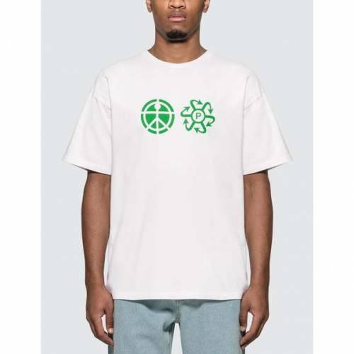 RASSVET ロゴ Tシャツ メンズファッション トップス カットソー メンズ 【 Print Logo T-shirt 】 White