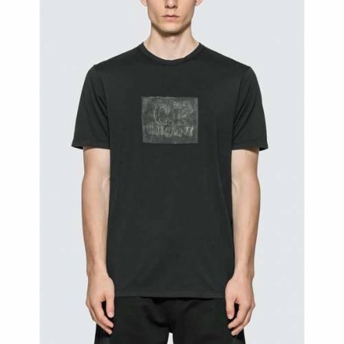 CP COMPANY ロゴ Tシャツ 黒 ブラック 【 BLACK CP COMPANY LOGO PRINT TSHIRT 】 メンズファッション トップス Tシャツ カットソー