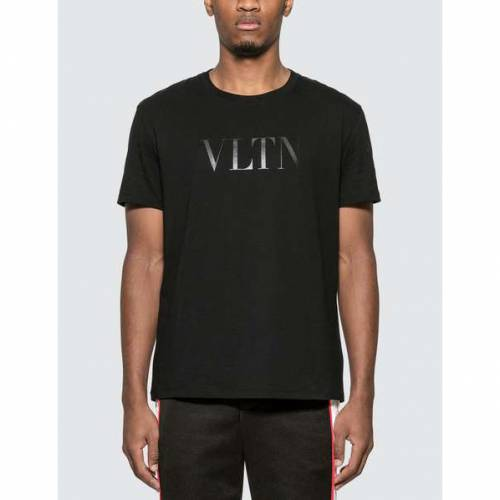 VALENTINO Tシャツ 黒 ブラック 【 BLACK VALENTINO VLTN TSHIRT 】 メンズファッション トップス Tシャツ カットソー
