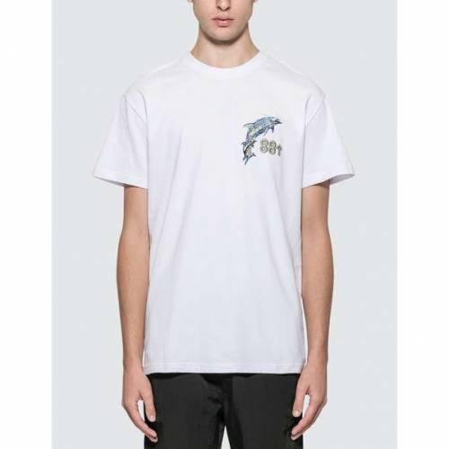 88RISING ロゴ Tシャツ 白 ホワイト 【 WHITE 88RISING X SORAYAMA DOLPHIN AR LOGO TSHIRT 】 メンズファッション トップス Tシャツ カットソー