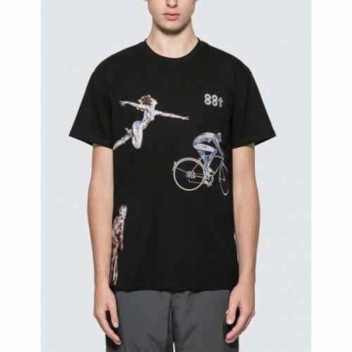 88RISING Tシャツ 黒 ブラック 【 BLACK 88RISING X SORAYAMA ROBOTIC MOVEMENT AR TSHIRT 】 メンズファッション トップス Tシャツ カットソー