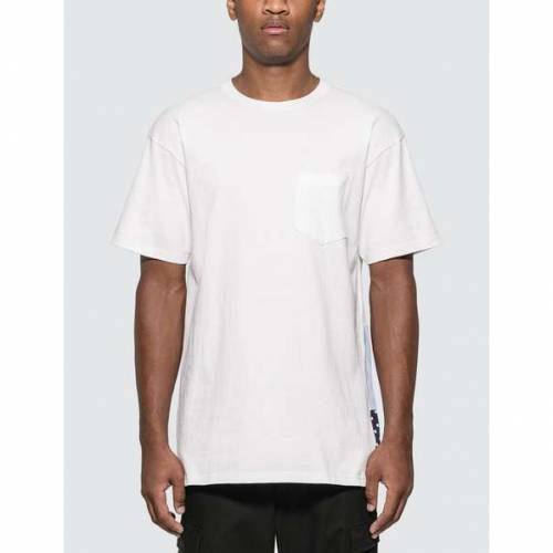 SOPHNET. Tシャツ 白 ホワイト SOPHNET. 【 WHITE BACK PANEL TSHIRT 】 メンズファッション トップス Tシャツ カットソー