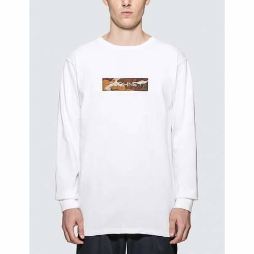 SOPHNET. ボックス ロゴ スリーブ Tシャツ 白 ホワイト SOPHNET. 【 SLEEVE WHITE BOX LOGO LONG TSHIRT 】 メンズファッション トップス Tシャツ カットソー