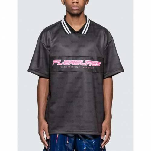 PLEASURES ジャージ 黒 ブラック 【 BLACK PLEASURES SATISFACTION JERSEY 】 メンズファッション トップス Tシャツ カットソー