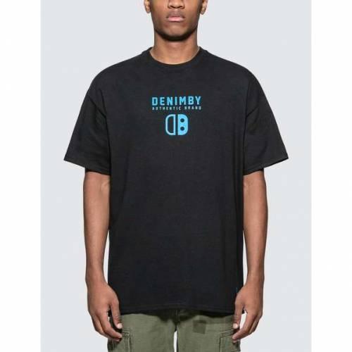 DENIM BY VANQUISH & FRAGMENT デニム 黒 ブラック ロゴ Tシャツ & 【 BLACK DENIM BY VANQUISH FRAGMENT LOGO PRINT TSHIRT 】 メンズファッション トップス Tシャツ カットソー