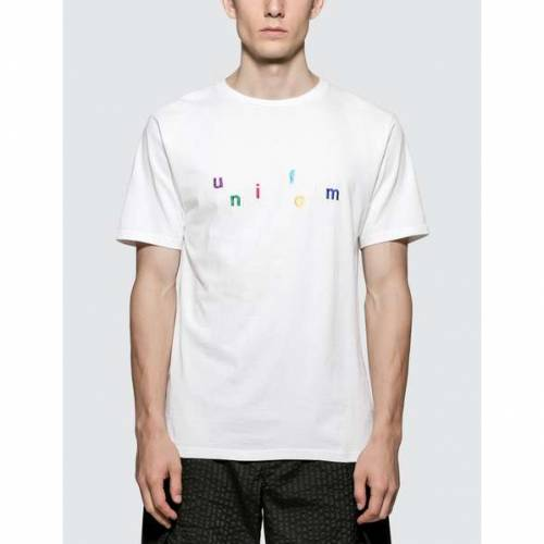 UNIFORM EXPERIMENT Tシャツ 白 ホワイト 【 WHITE UNIFORM EXPERIMENT COLORFUL EMBROIDERY TSHIRT 】 メンズファッション トップス Tシャツ カットソー