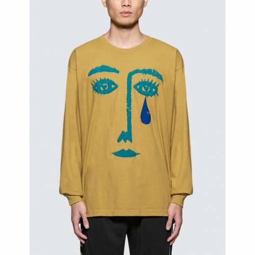 NO VACANCY INN 長袖 ロングスリーブ Tシャツ メンズファッション トップス カットソー メンズ 【 Teardrop L/s T-shirt 】 Mustard