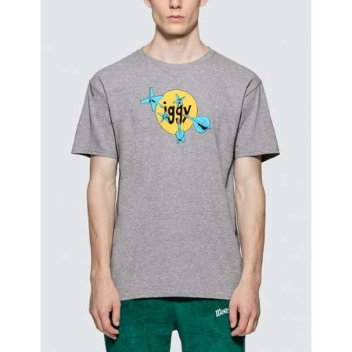 IGGY Tシャツ 灰色 グレ 【 IGGY THROWING DARTS TSHIRT GREY 】 メンズファッション トップス Tシャツ カットソー