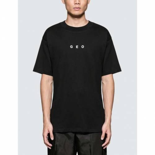 GEO 半袖 Tシャツ 黒 ブラック 【 BLACK GEO WEATHERED GLOBE S TSHIRT 】 メンズファッション トップス Tシャツ カットソー
