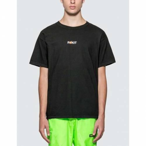 ROKIT Tシャツ 黒 ブラック 【 BLACK ROKIT THE MINIBOLT TSHIRT 】 メンズファッション トップス Tシャツ カットソー
