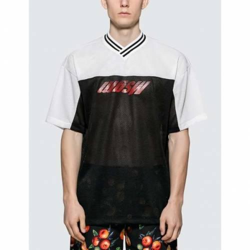 MSGM ロゴ 半袖 Tシャツ 黒 ブラック 【 BLACK MSGM INVERTED LOGO FOOTBALL S TSHIRTS 】 メンズファッション トップス Tシャツ カットソー