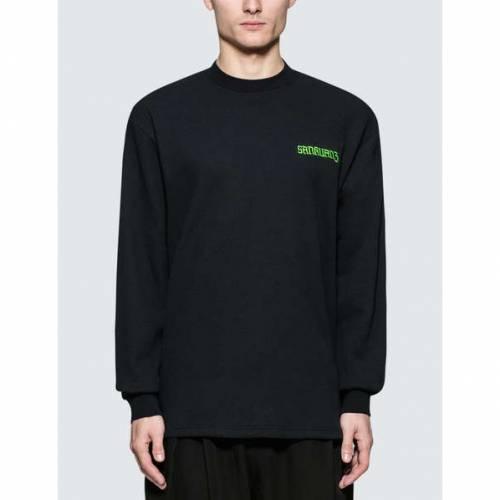 SANKUANZ スリーブ Tシャツ 黒 ブラック 【 SLEEVE BLACK SANKUANZ LONG TSHIRT 】 メンズファッション トップス Tシャツ カットソー
