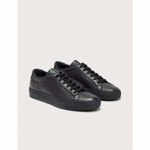 COMMON PROJECTS 黒 ブラック スニーカーBLACK COMMON PROJECTS ORIGINAL ACHILLES LOW7yY6bfgv