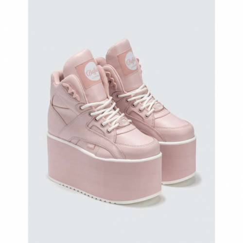 BUFFALO LONDON バッファロー ピンク ハイ スニーカーPINK BUFFALO LONDON BABY HIGH TOWER PLATFORM SNEAKERSOZiuPkXwT