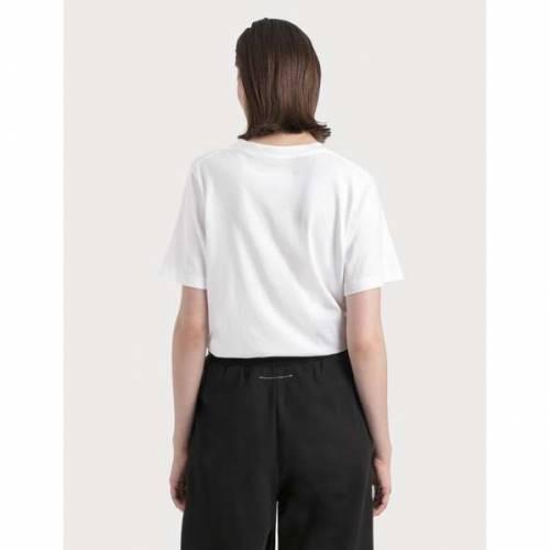 MM6 MAISON MARGIELA ローズ Tシャツ 白 ホワイトROSE WHITE MM6 MAISON MARGWEDH9Ye2I