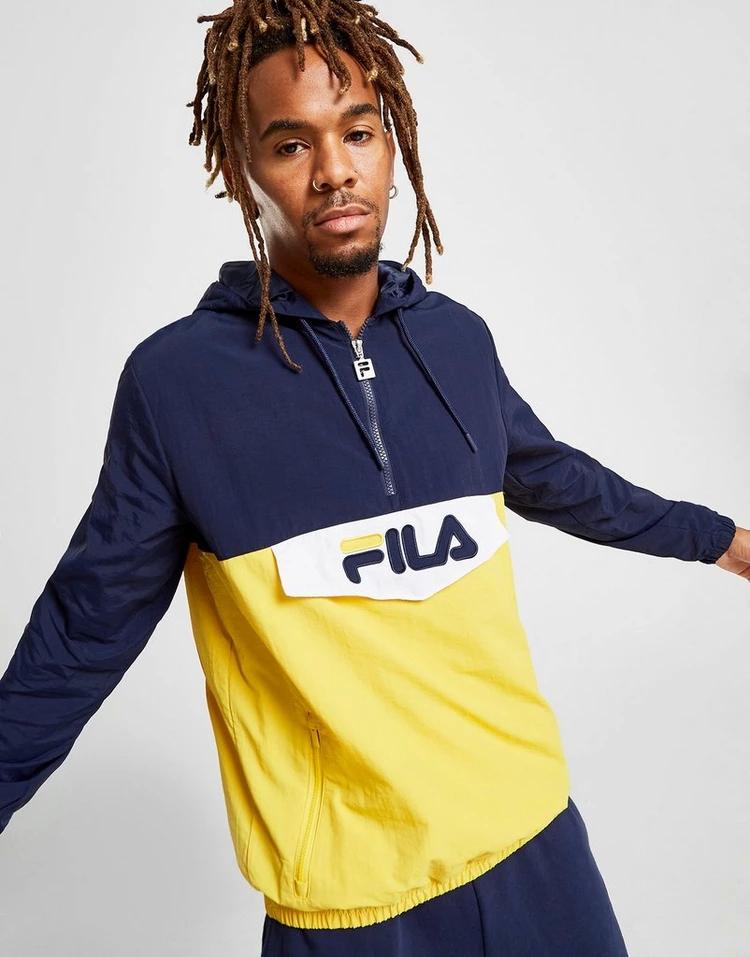 フィラ FILA フィラ 青 ブルー 【 BLUE FILA ANDERSON 1 4 ZIP JACKET 】 メンズファッション コート ジャケット