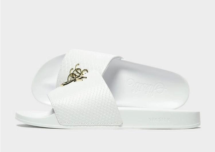 SIKSILK ローマ サンダル 白 ホワイト 'LUX 【 SLIDE WHITE SIKSILK ROMA 】 メンズ サンダル