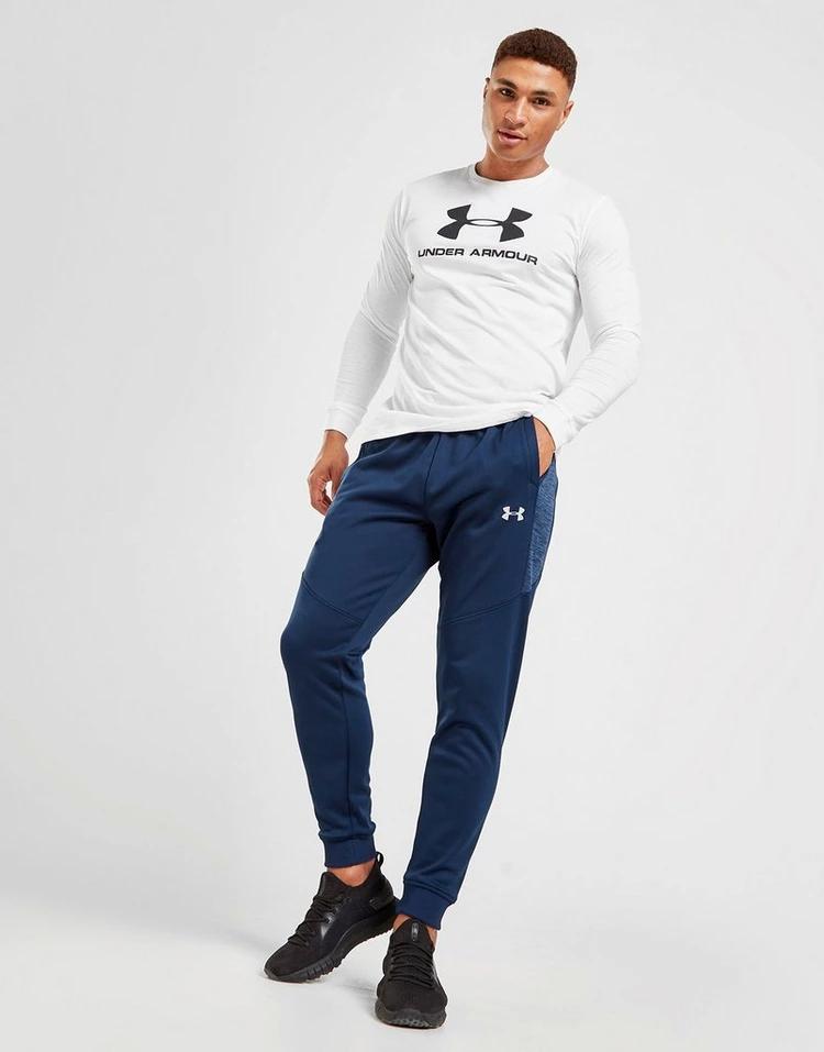 UNDERARMOUR フリース トラック 青 ブルー 【 BLUE UNDERARMOUR FLEECE TRACK PANTS 】 メンズファッション ズボン パンツ