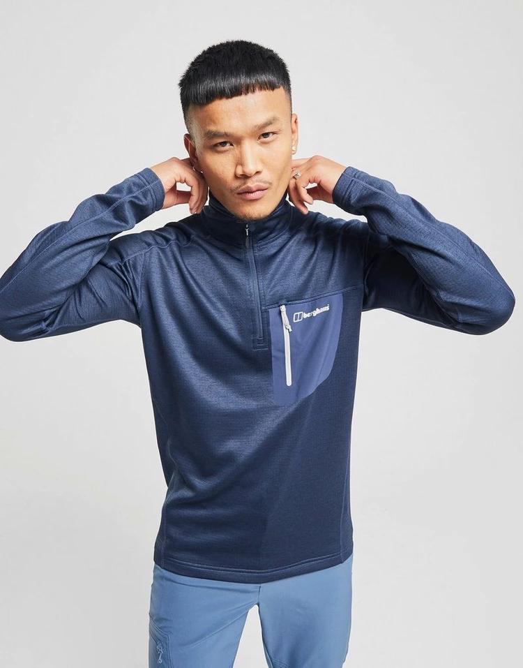 BERGHAUS 青 ブルー 【 BLUE BERGHAUS 1 2 ZIP SPITZER SWEATSHIRT 】 メンズファッション トップス スウェット トレーナー