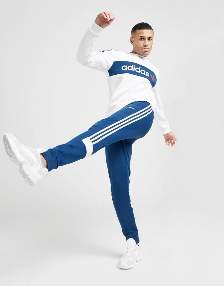 ADIDASORIGINALS フリース 青 ブルー 2.0 【 BLUE ADIDASORIGINALS LINEAR FLEECE JOGGERS 】 メンズファッション ズボン パンツ