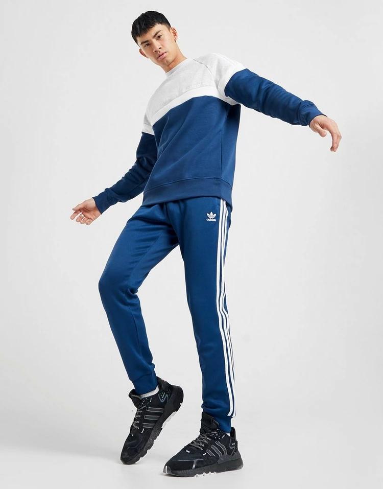 ADIDASORIGINALS トラック 青 ブルー 【 BLUE ADIDASORIGINALS SS TRACK PANTS 】 メンズファッション ズボン パンツ