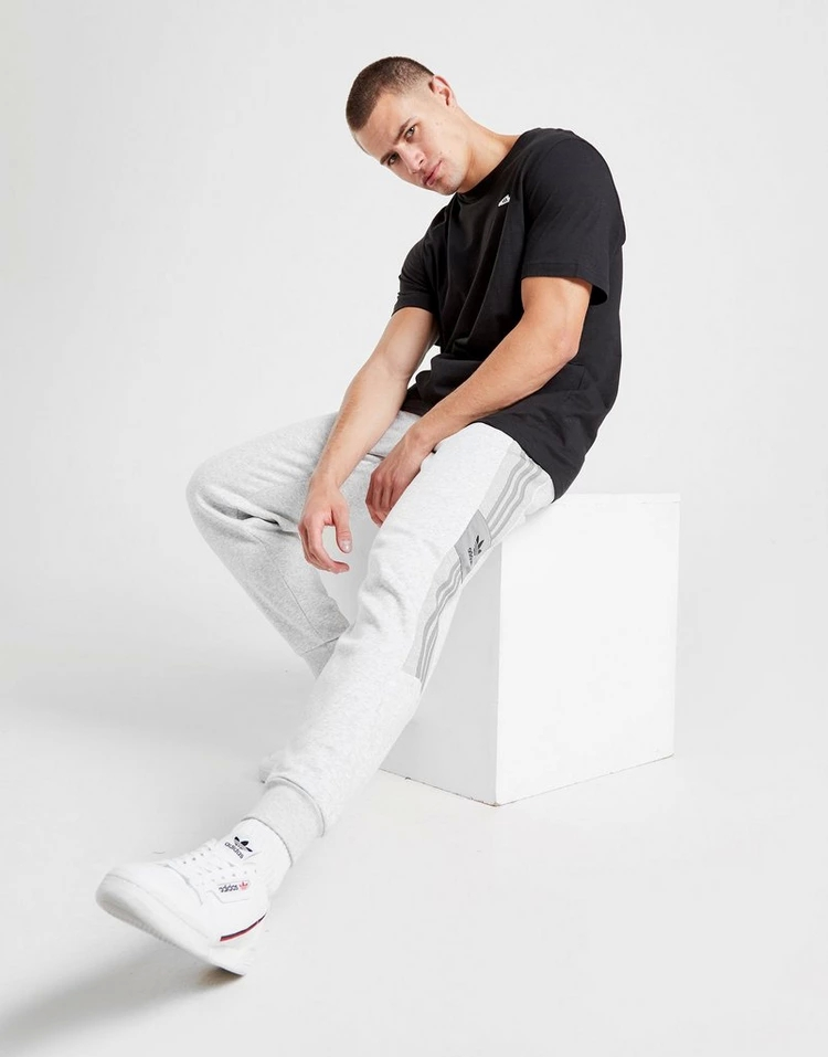 ADIDASORIGINALS フリース GRAY灰色 グレイ 【 GREY ADIDASORIGINALS ID 2096 FLEECE JOGGERS 】 メンズファッション ズボン パンツ
