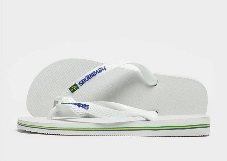 HAVAIANAS ロゴ 白 ホワイト 【 WHITE HAVAIANAS BRAZIL LOGO FLIP FLOPS 】 メンズ サンダル