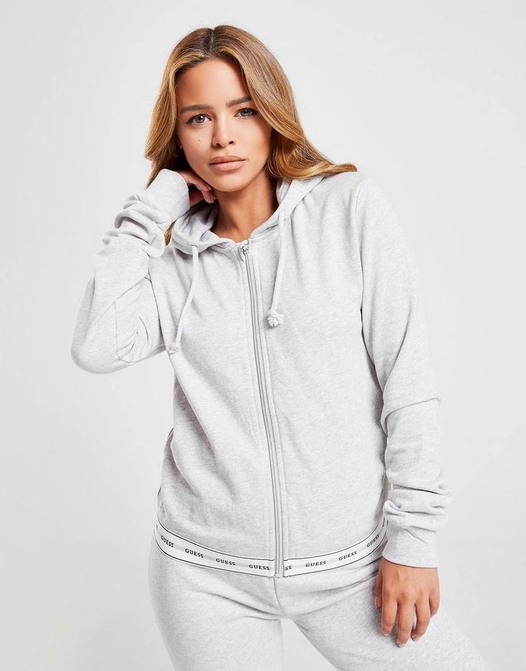 GUESS レディースファッション トップス パーカー レディース 【 Tape Full Zip Hoodie 】 Grey