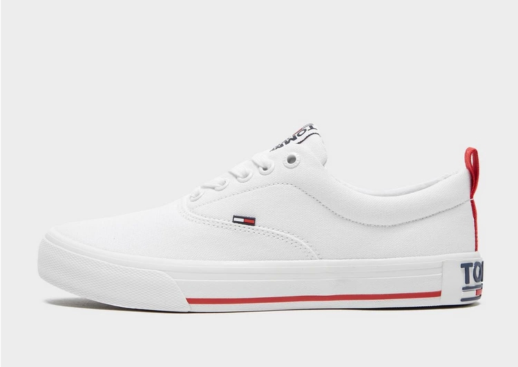 TOMMY JEANS 白 ホワイト 【 WHITE TOMMY JEANS ESSENTIAL LOWTOP 】 レディースファッション トップス スウェット トレーナー