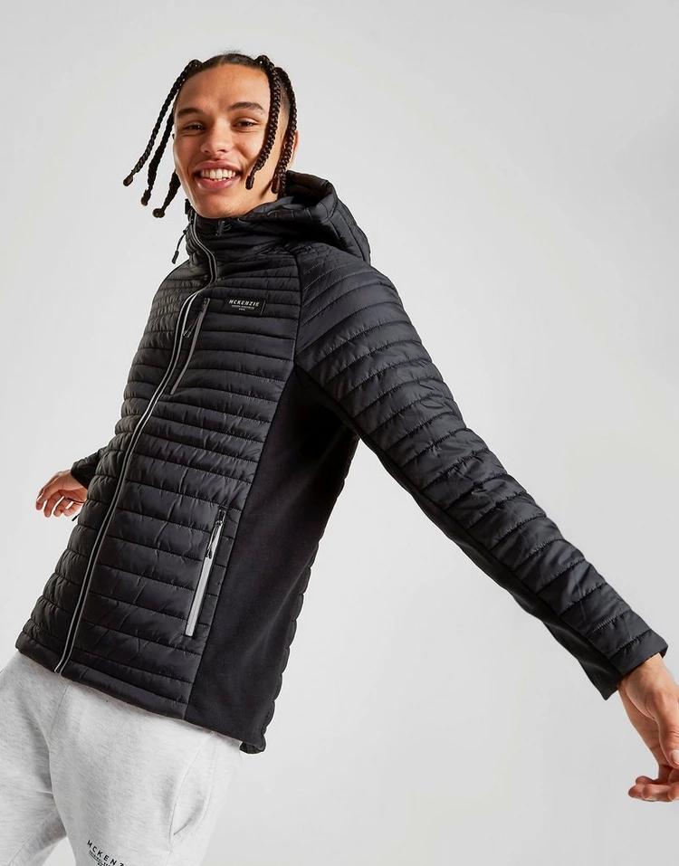 MCKENZIE 黒 ブラック 【 BLACK MCKENZIE CARL JACKET 】 メンズファッション コート ジャケット