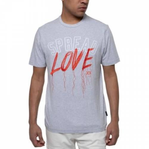 SEAN JOHN グラフィック Tシャツ GRAY灰色 グレイ MEN'S 【 GREY SEAN JOHN SPREAD LOVE EMBROIDERED GRAPHIC TSHIRT ATHLETIC HTR 】 メンズファッション トップス Tシャツ カットソー